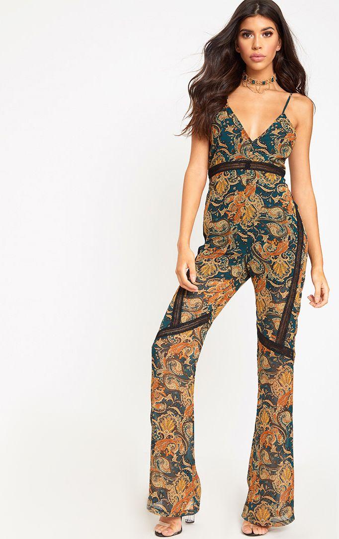 Sadey Multi Print Flare Leg Jumpsuit