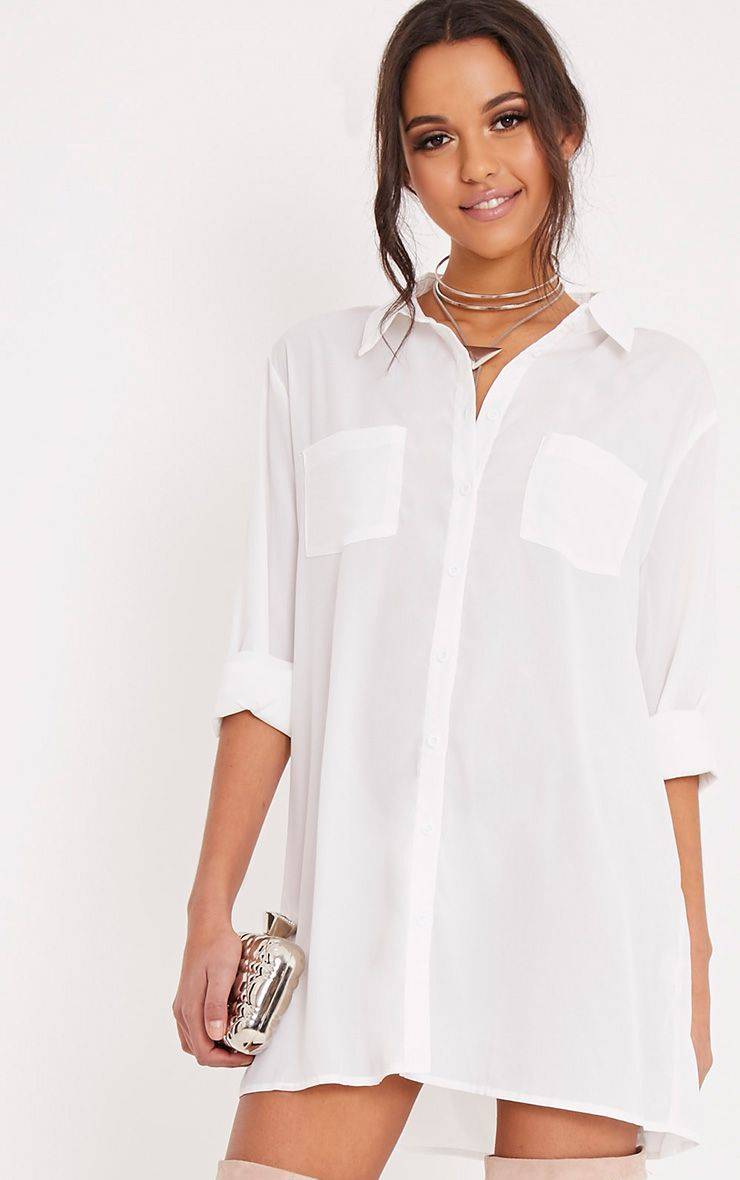 Luxury  Lauren Crushed Cotton Sleeveless Shirt Dress Cover Up In White  Lyst