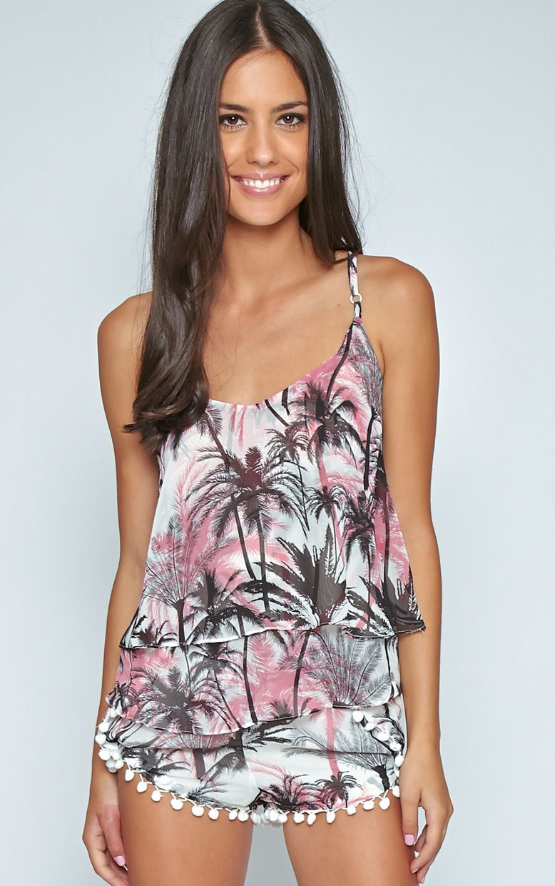 Marcel Pink Palm Tree Swing Vest 1