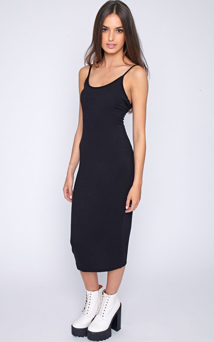 Madelyn Black Midi Vest Dress 1