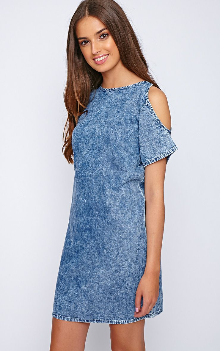 Rani Cut Out Oversized Denim Dress 1