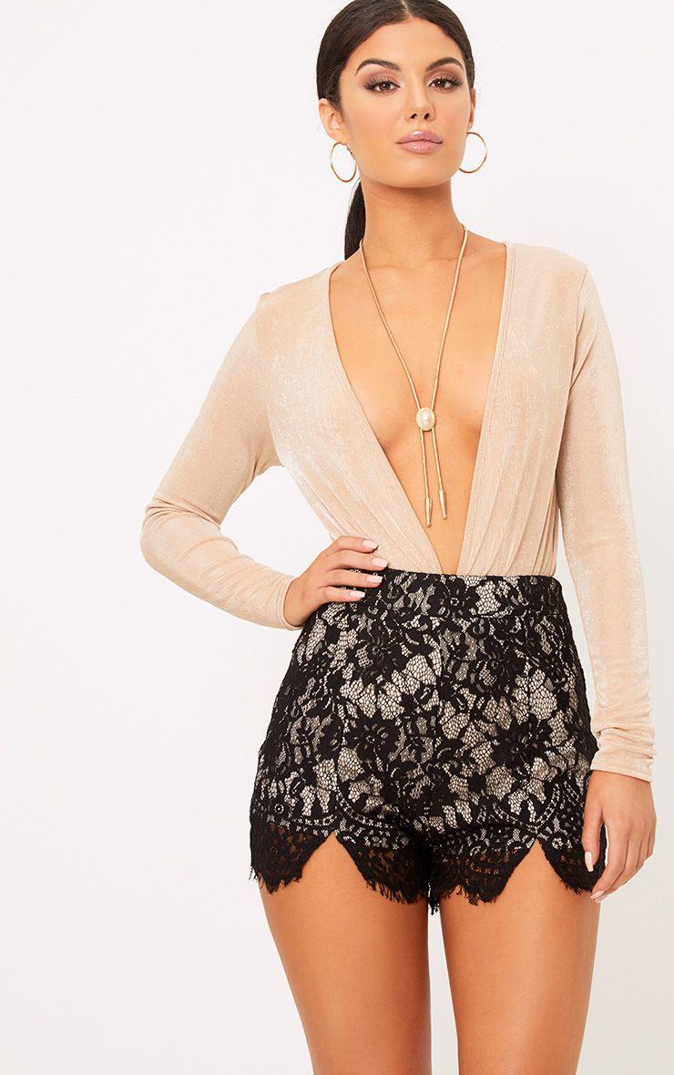Ellena Black Lace Shorts