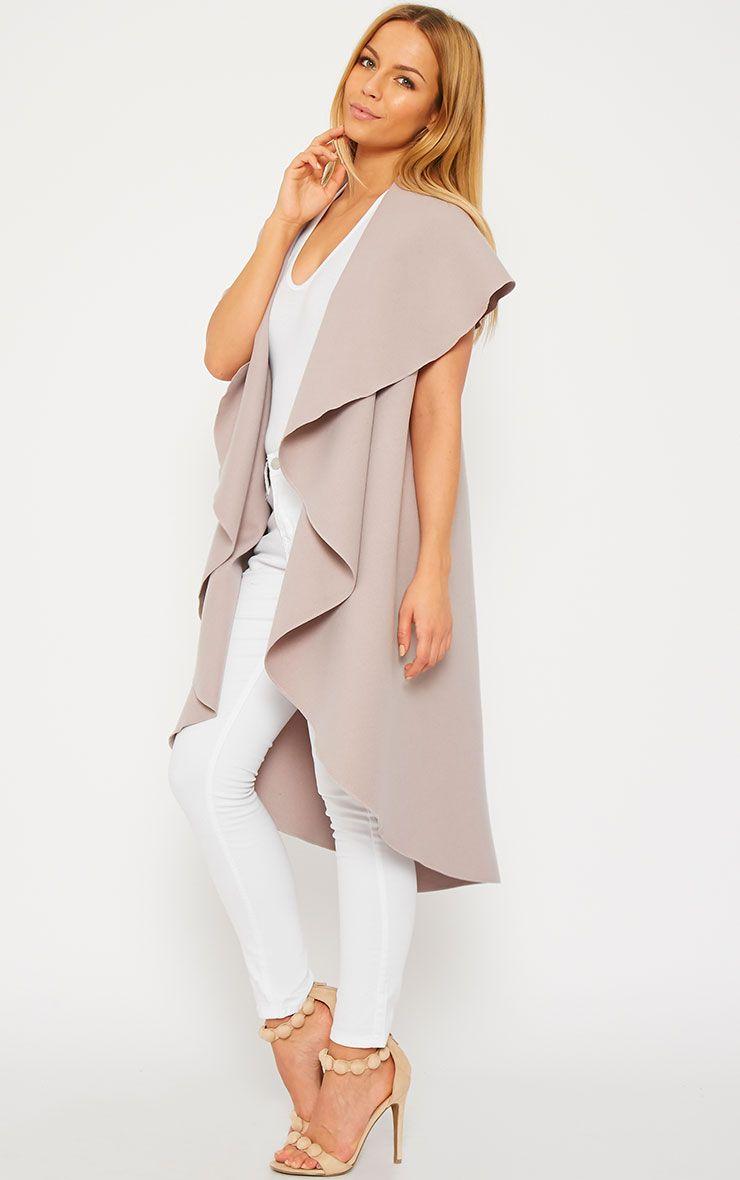 Vivian Dusty Pink Waterfall Waistcoat 1