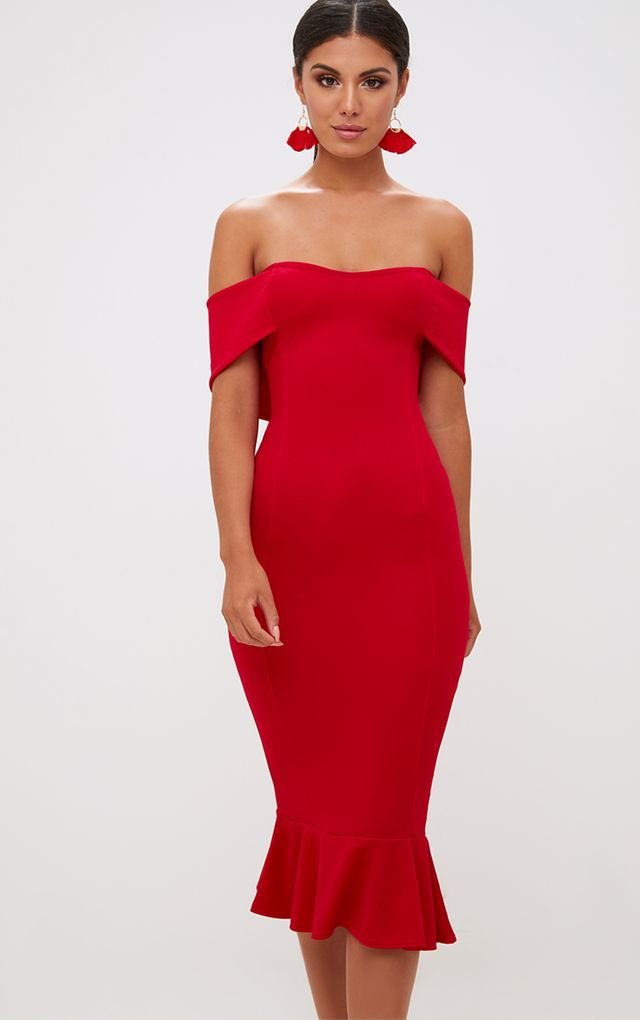 Wedding guest dresses dress for weddings for Red midi dress wedding guest