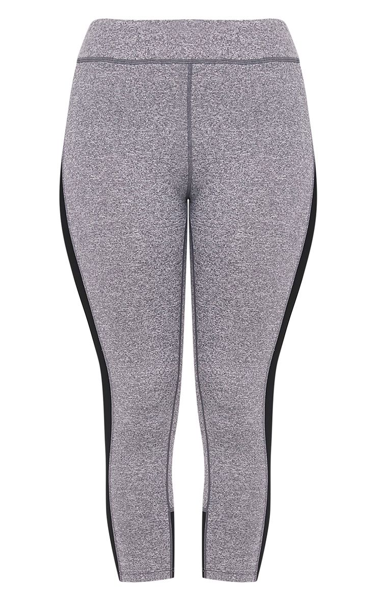 Fion Black Panelled Cropped Gym Leggings 3