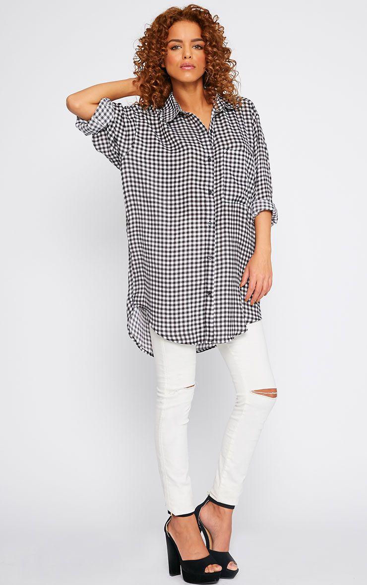 Darcia Gingham Oversized Shirt  4
