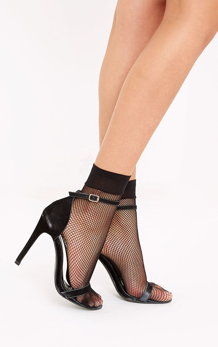 Allie Black Fishnet Socks