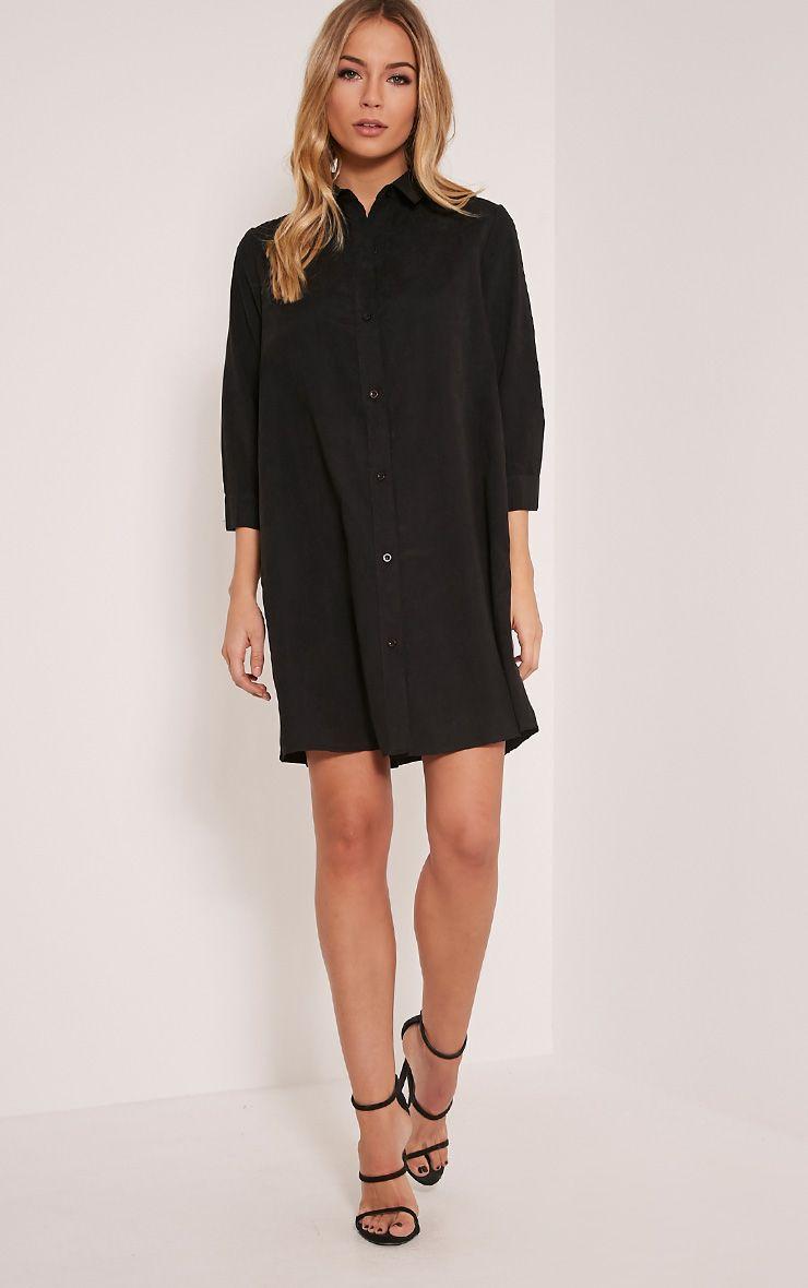 Leni Black Shirt Dress