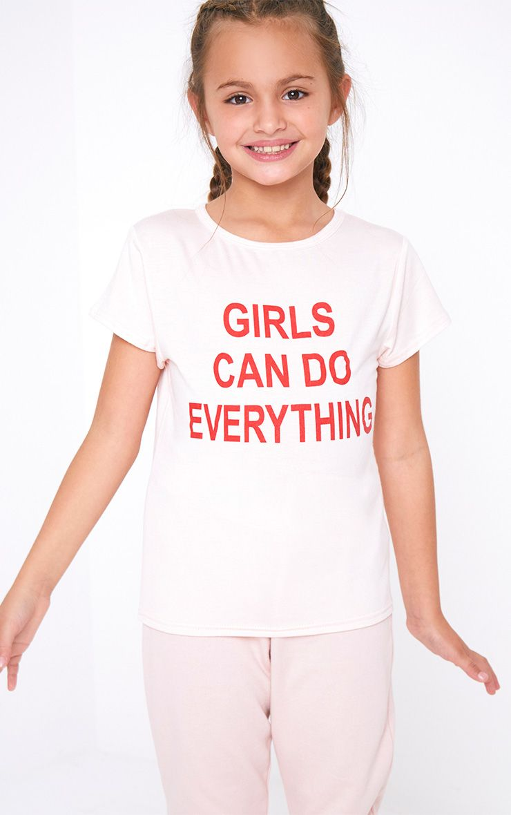 Girls Can Do Everything Pink T Shirt