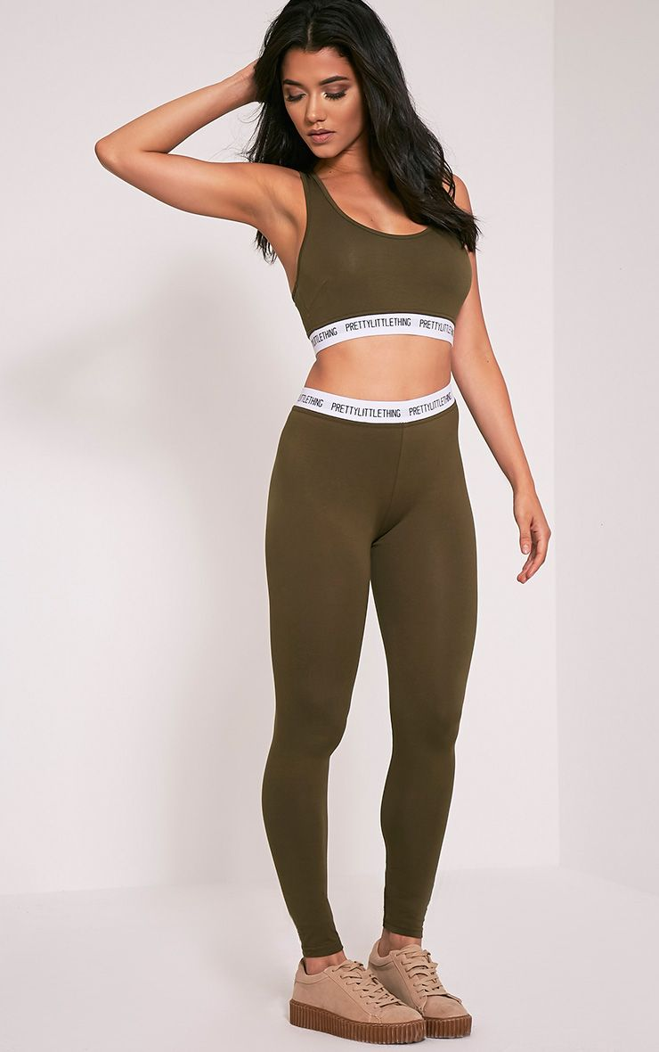 PrettyLittleThing Khaki Leggings
