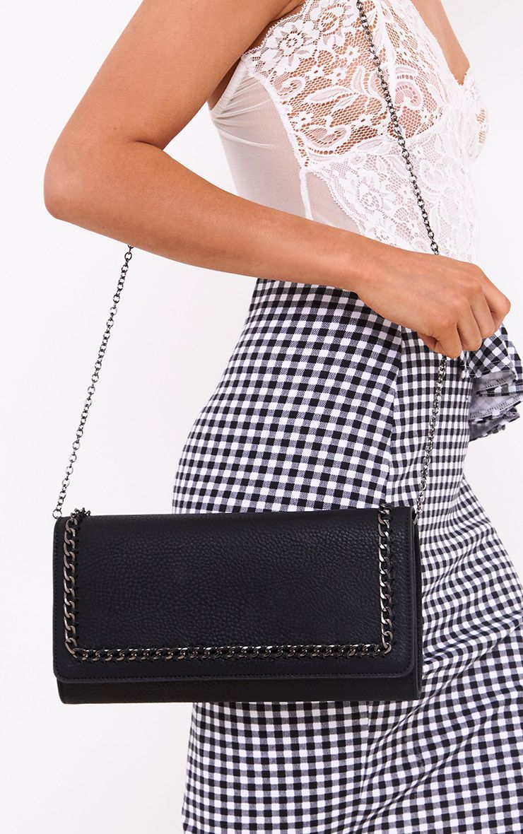 Black Chain Bordered Bag