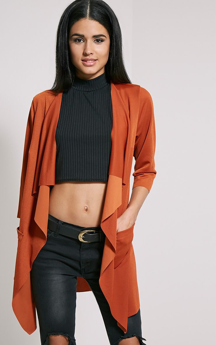 Siran Rust Belted Jacket 1