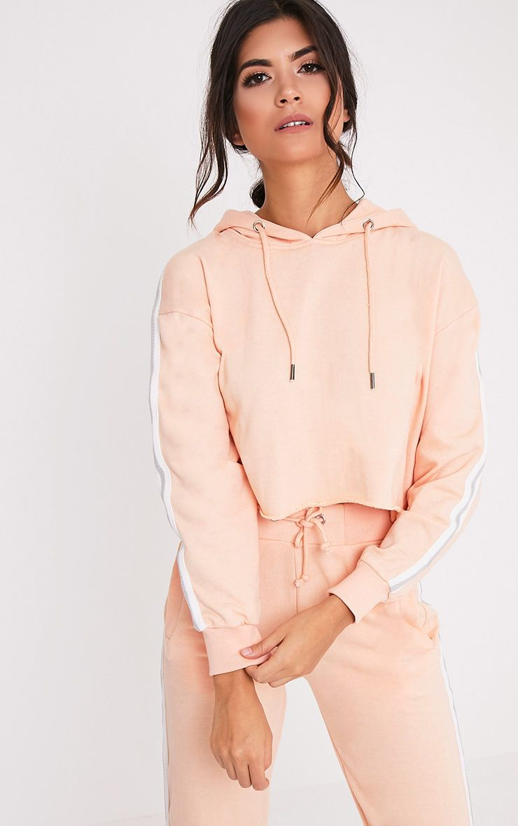Gwen Nude Side Stripe Hoody
