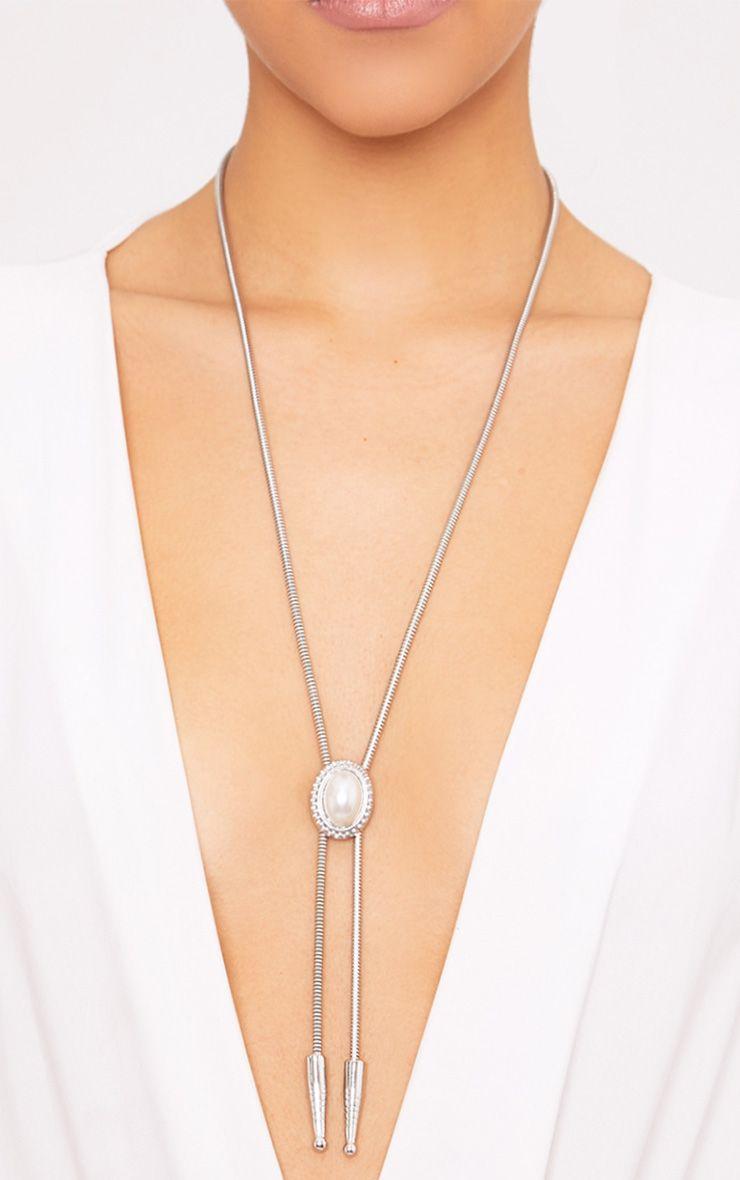 Jaylinn Silver Western Tie Necklace