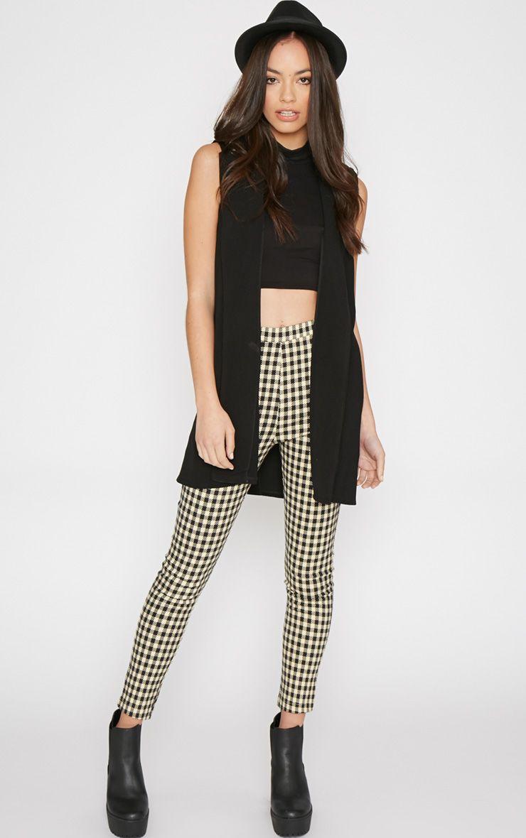 Libby Black Checked Skinny Trouser 1