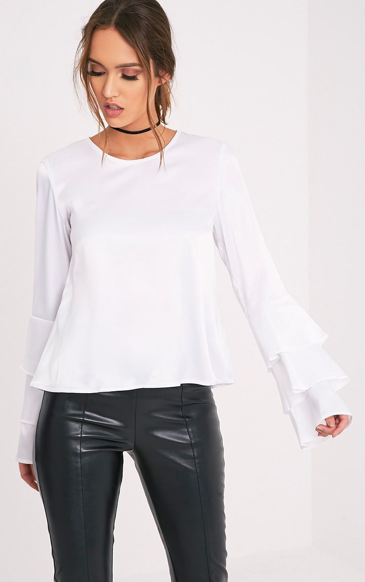 Layle Cream Frill Sleeve Woven Blouse