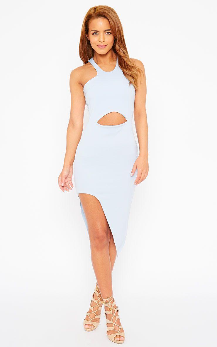 Sydney Powder Blue Cut Out Curve Split Dress 1
