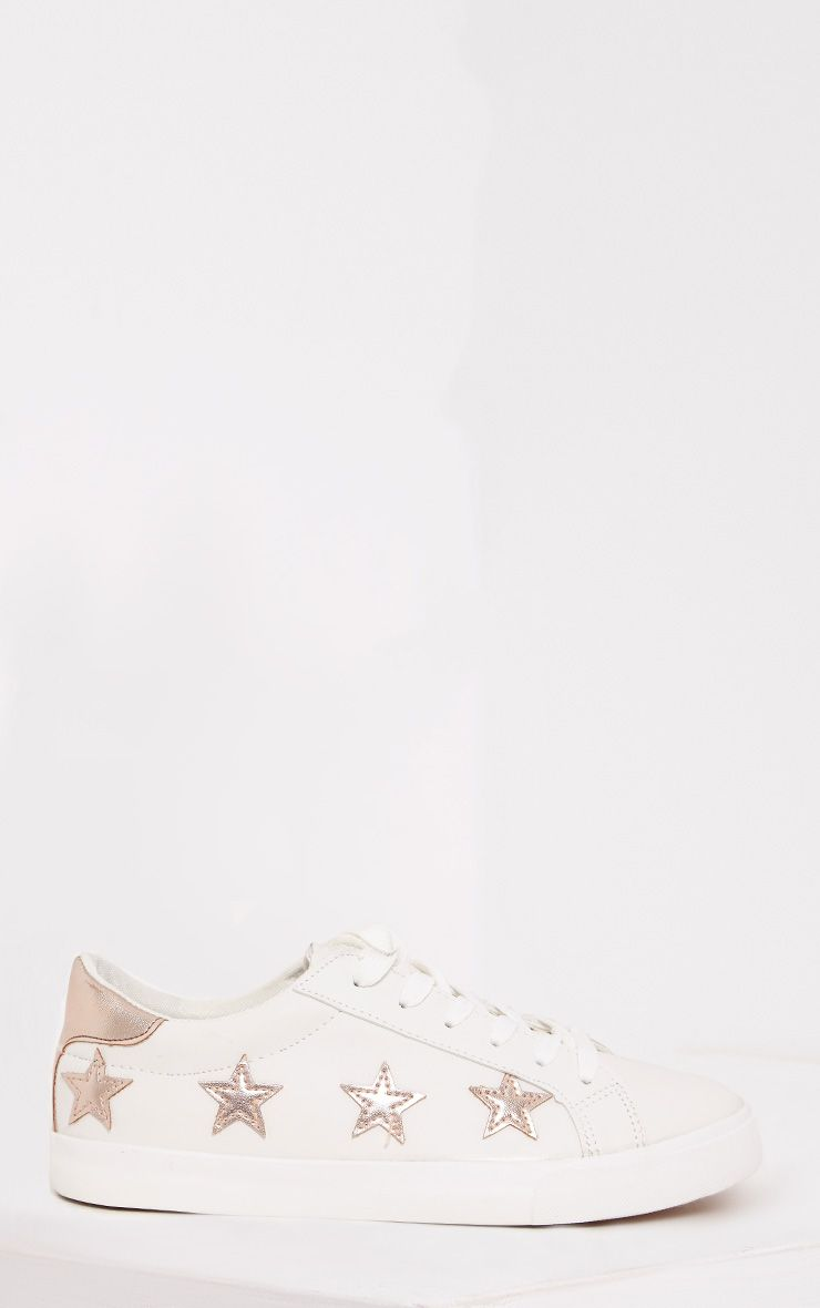 Ami Rose Gold Metallic Star Trainers 1