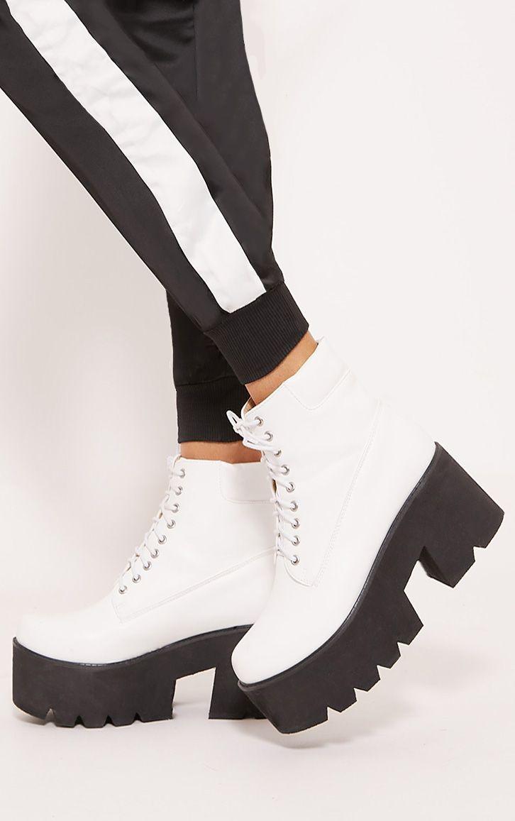 White Chunky Festival Boot