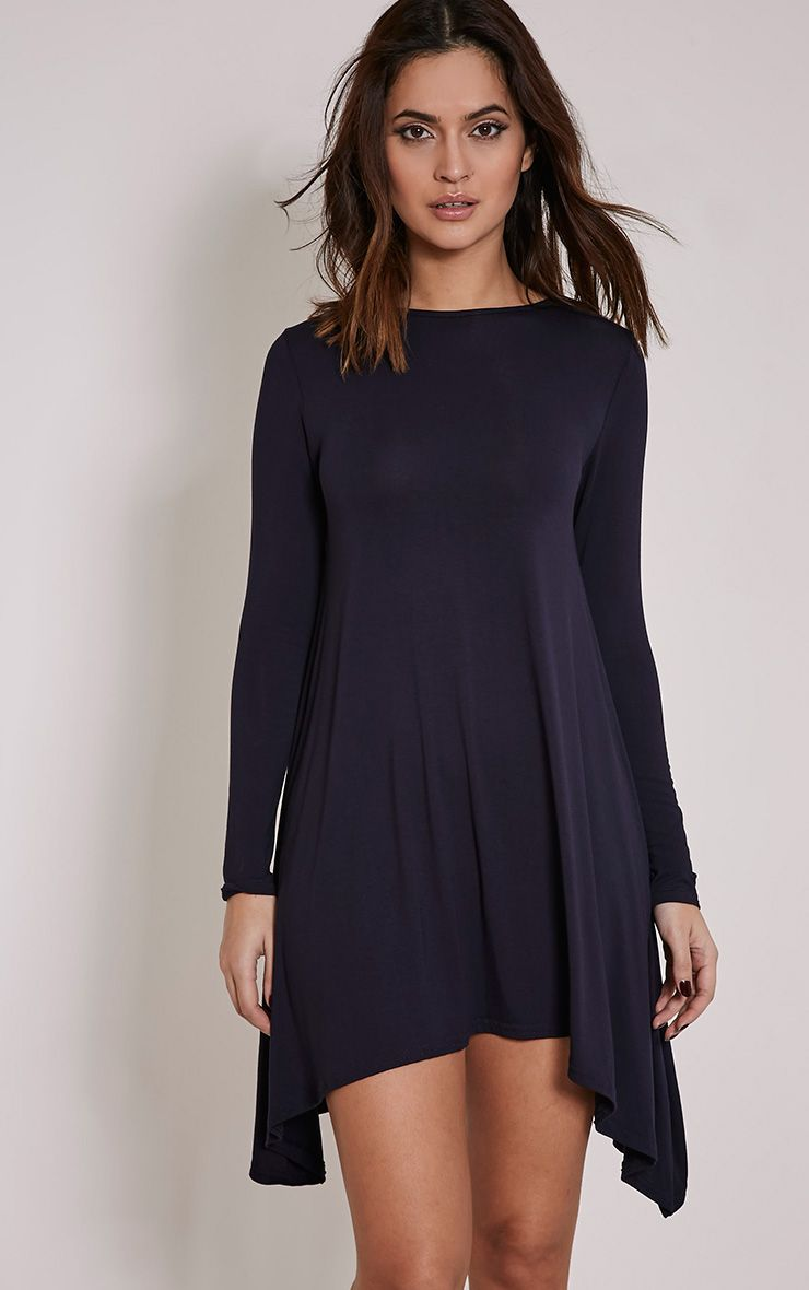 Basic Navy Swing Dress 1