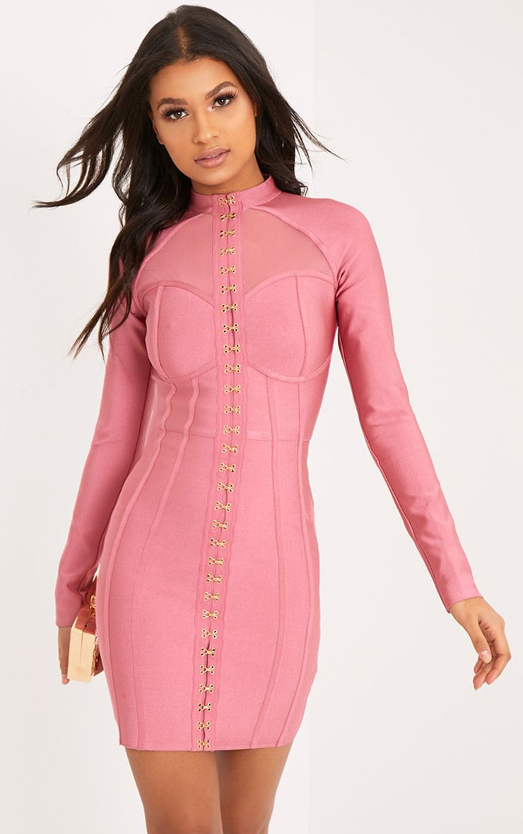 Averie Rose Bandage Eyelet Detail Bodycon Dress