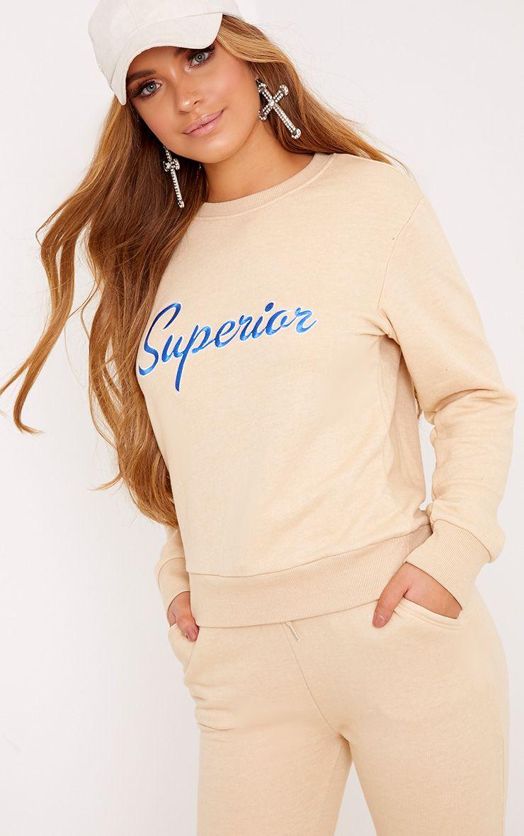 Superior Slogan Chalk Sweatshirt