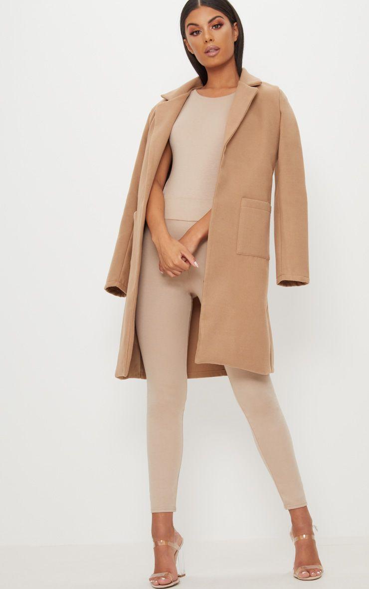 Beige Pocket Front Coat  1