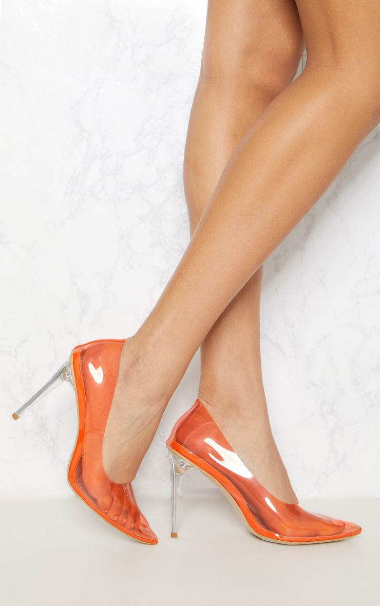 ORANGE CLEAR COURT SHOE