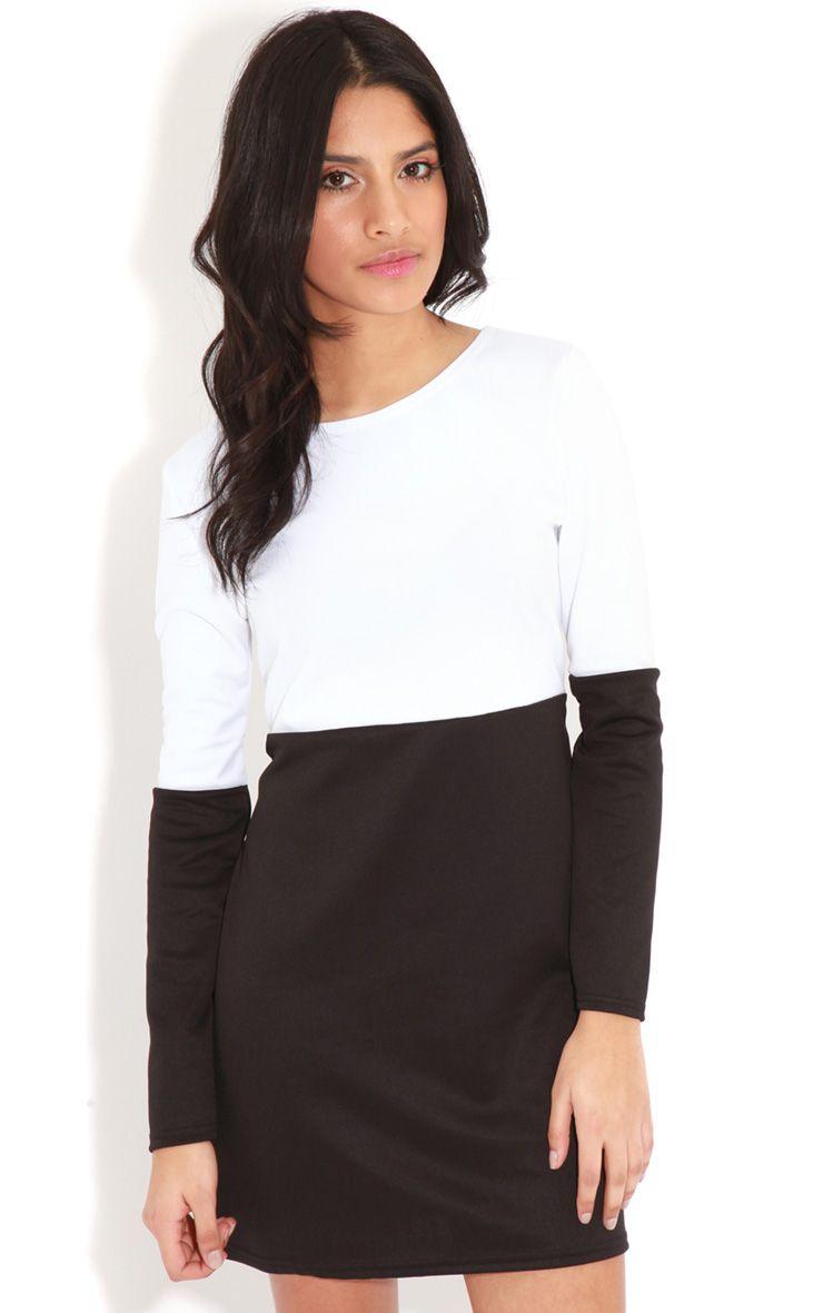 Francie Monochrome Panel Scuba Dress 1