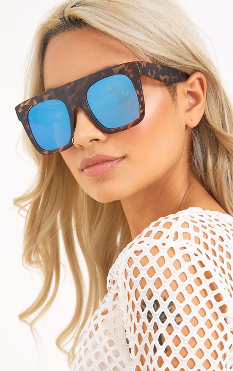 Elsie Mirror Lens Tortoise Frame Sunglasses