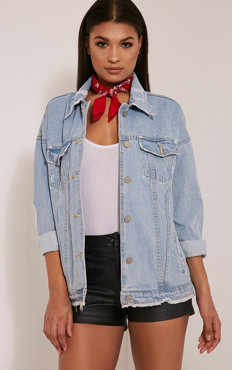 Charleen Light Wash Boyfriend Denim Jacket 1