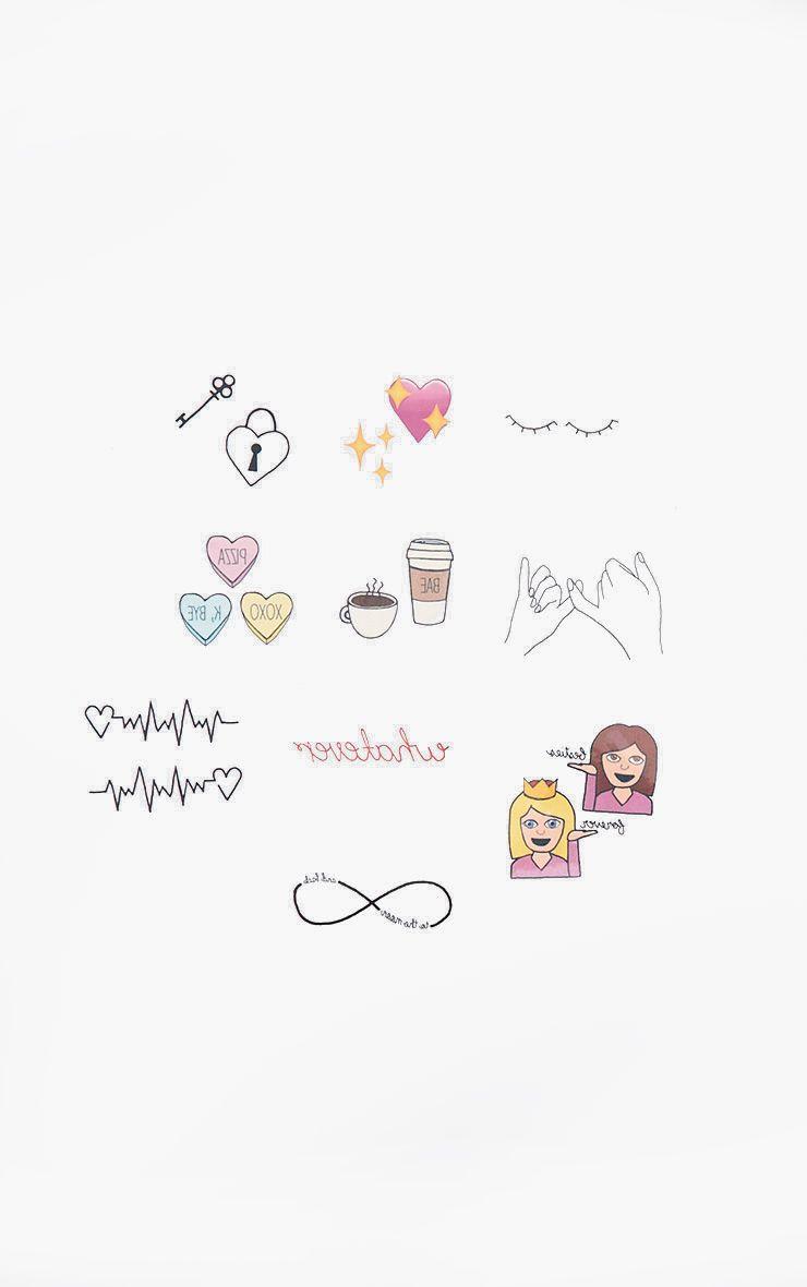 Lot de tatouages éphémères meilleures amies Inked By Dani