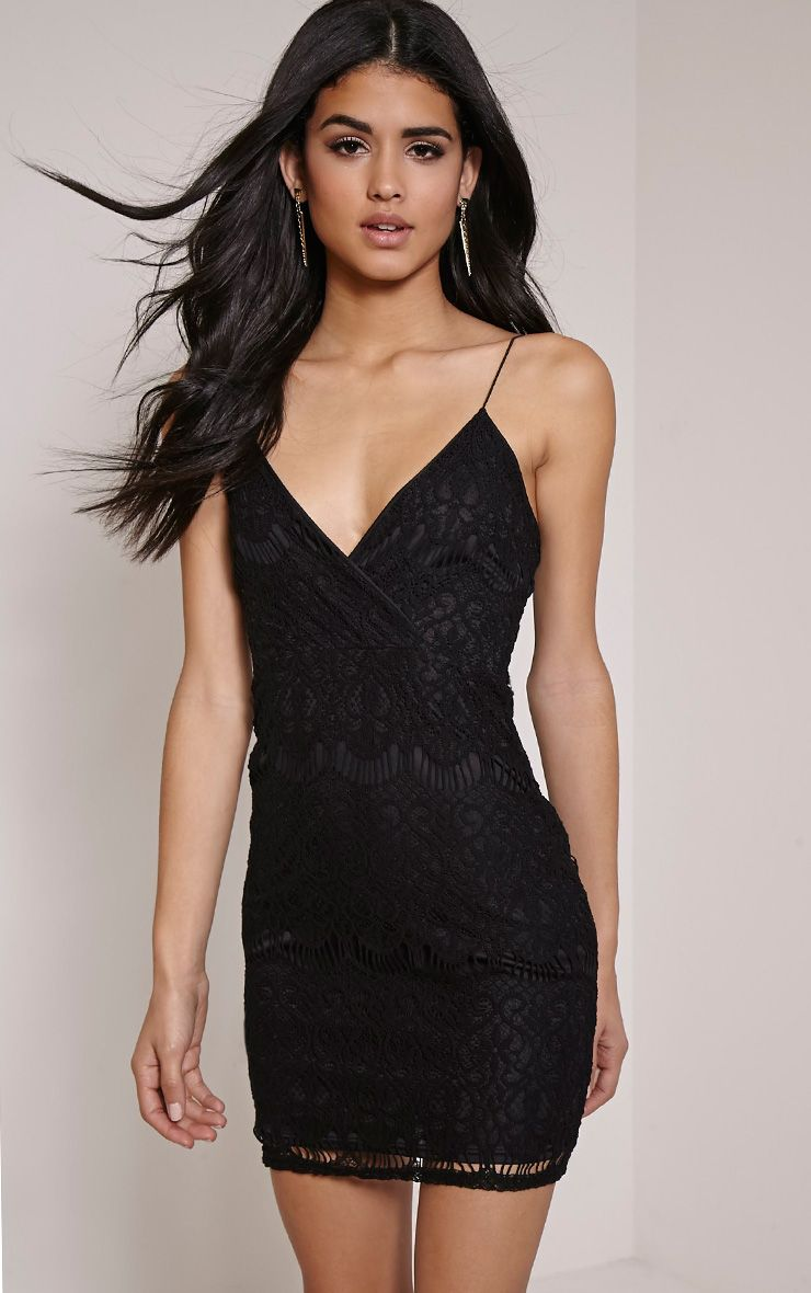 Kadie Black Eyelash Mini Dress 1