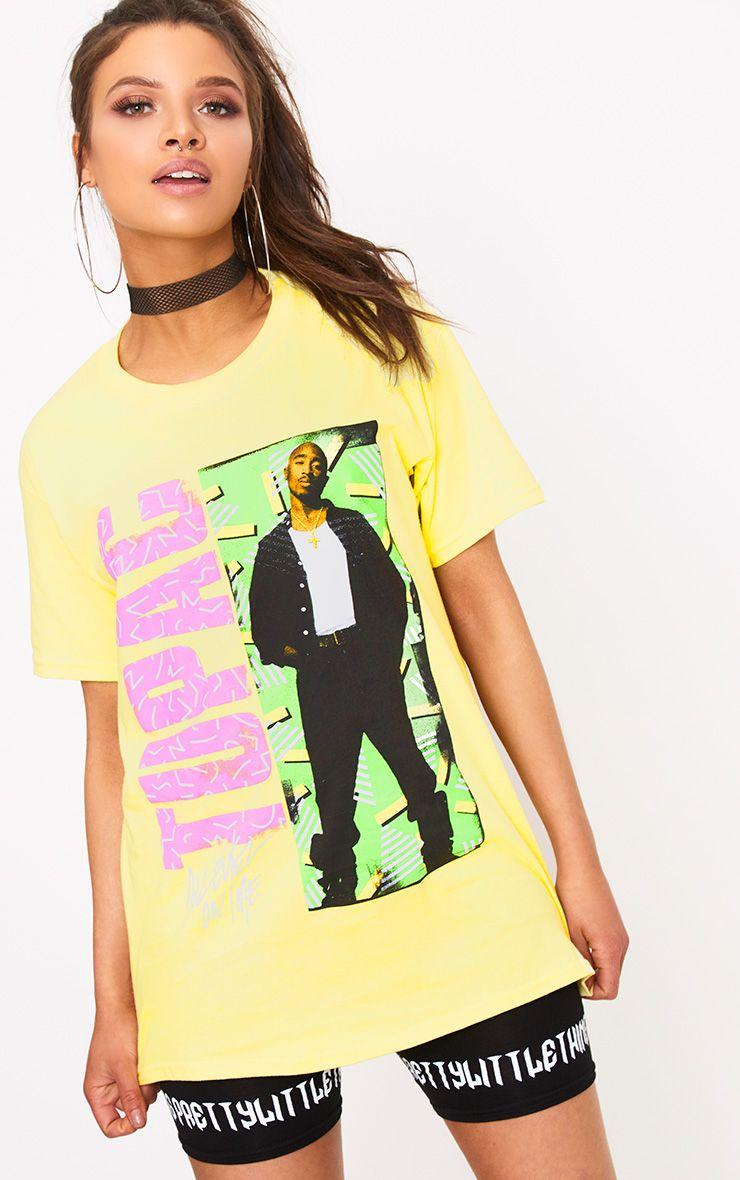 Iconic Tupac Yellow T Shirt
