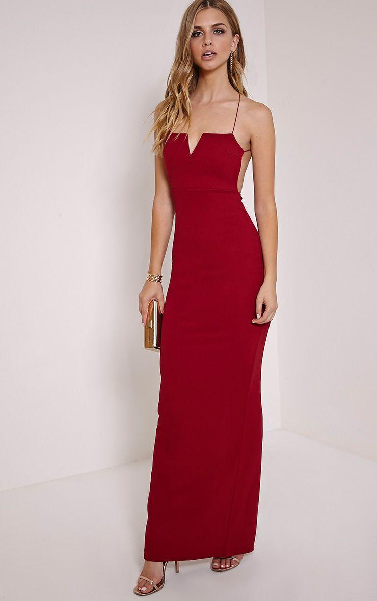 Raye Burgundy Maxi Dress 1