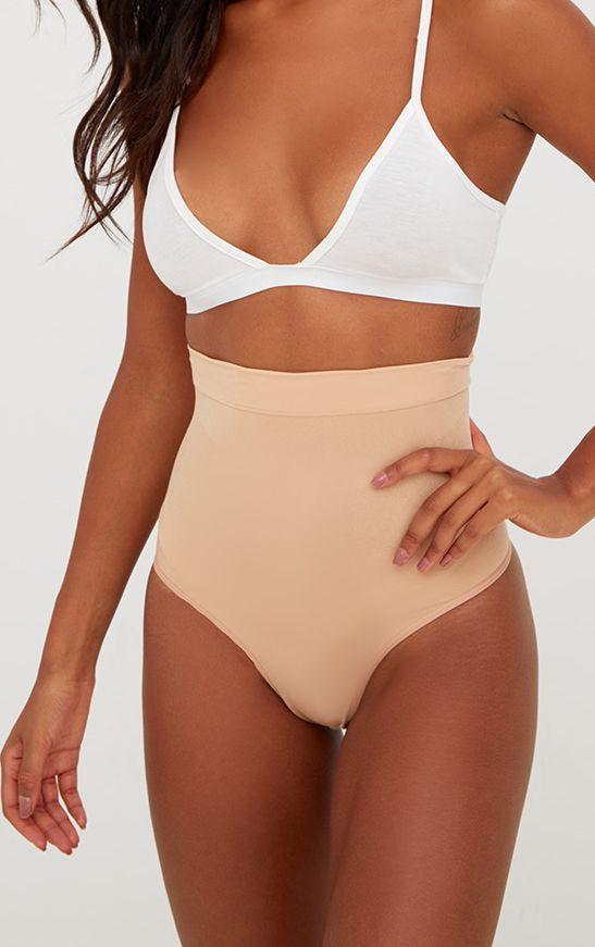 Nude High Waist Control Shapewear Thong