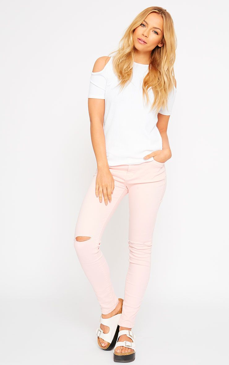 Talli Baby Pink Ripped Knee Jeans 1