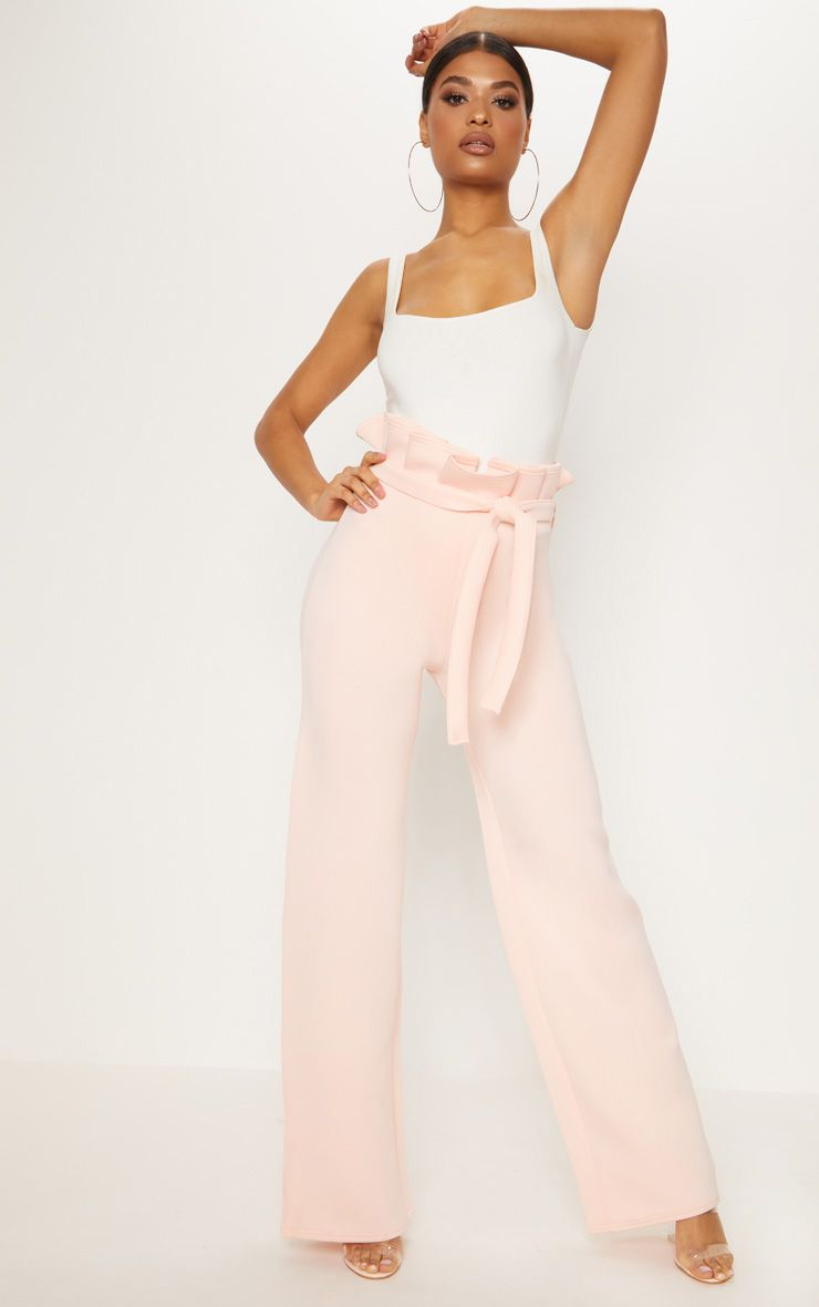 Nude Scuba Extreme Paperbag Wide Leg Trouser