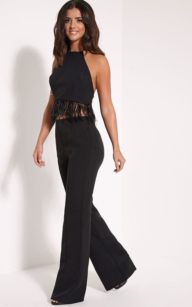 Emmaline Black Flared Trousers