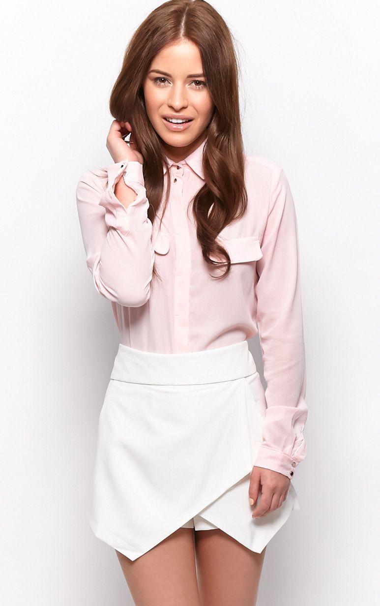 Gina White Tailored Skort  1