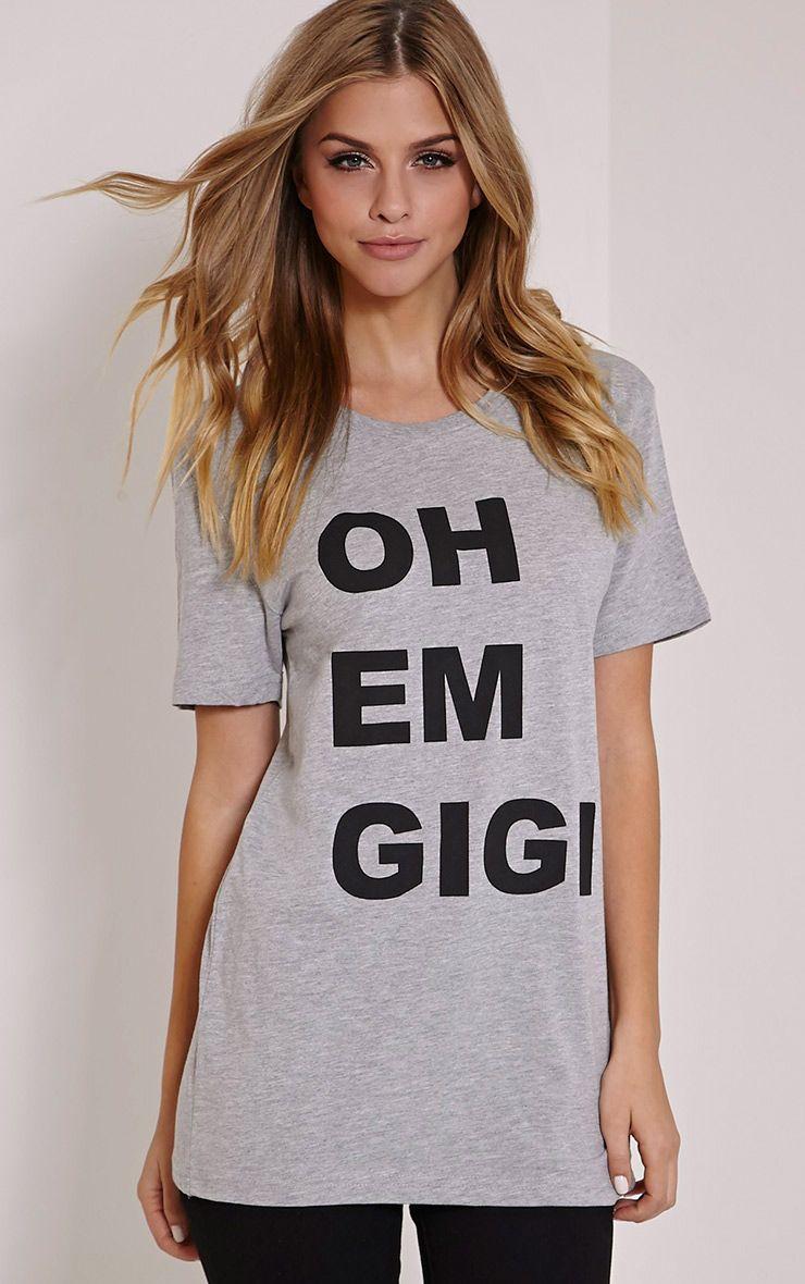 Oh Em Gigi Grey T Shirt 1