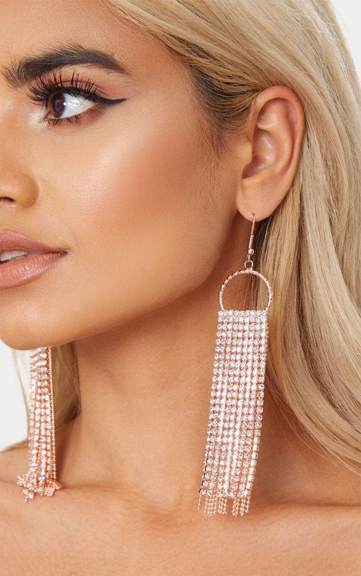 boucles d 39 oreilles style pompon en strass rose gold accessoires. Black Bedroom Furniture Sets. Home Design Ideas