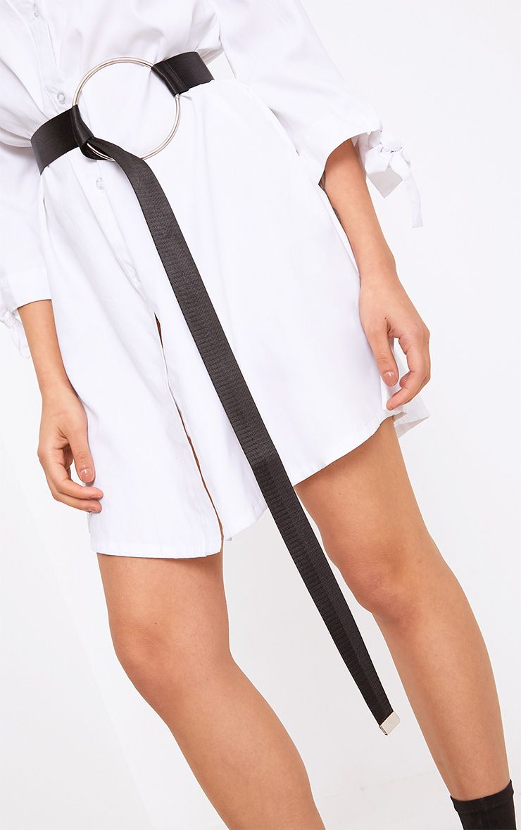 Black Circle Thread Waist Belt