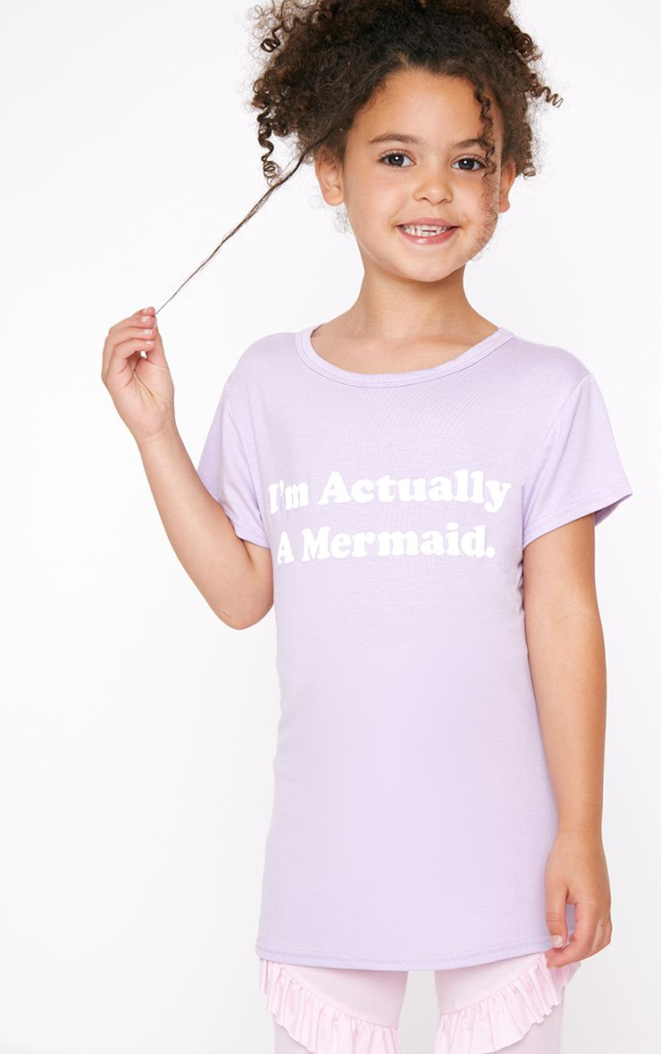 I'm Actually A Mermaid Lilac T Shirt