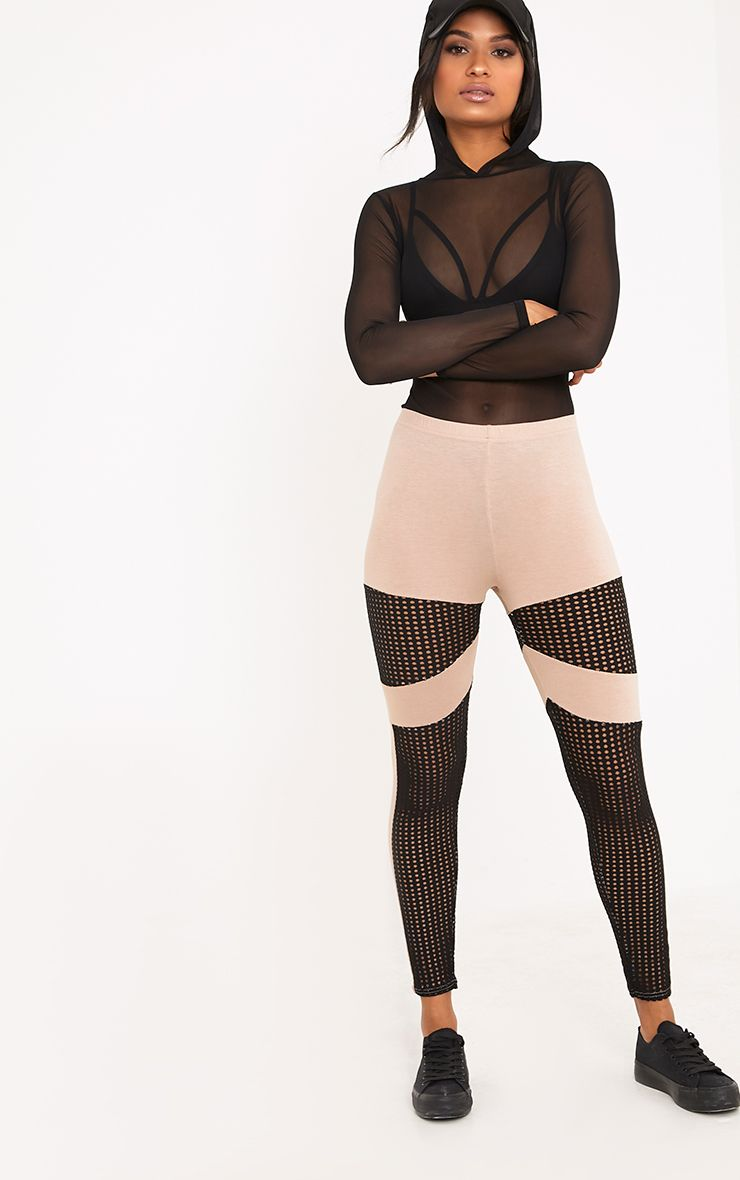 Johana Stone Fishnet Panel Leggings