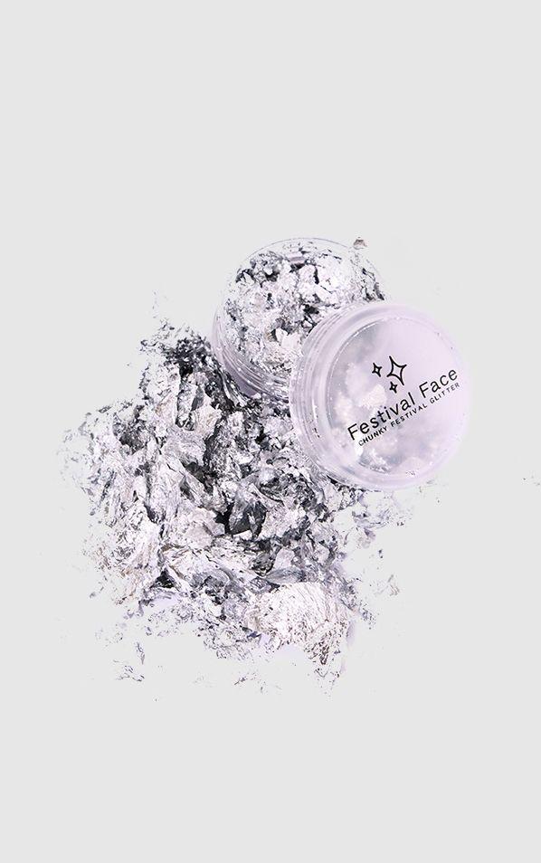 Festival Face Silver Foil Flakes