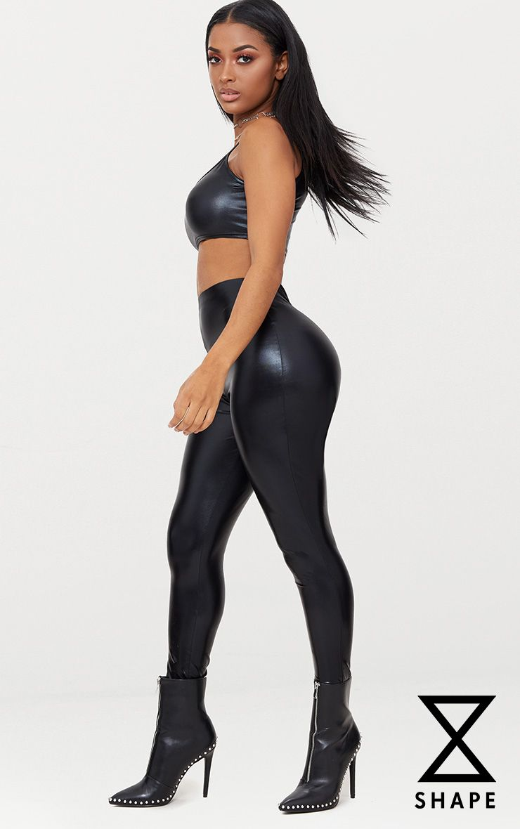Shape Black Metallic High Waisted Leggings