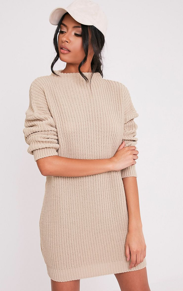 Iffy Stone Oversized Cable Knit Dress