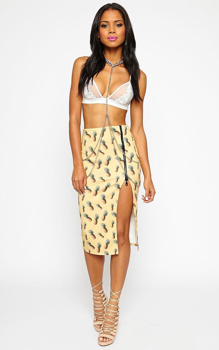 Perry Pineapple Print Midi Skirt 1