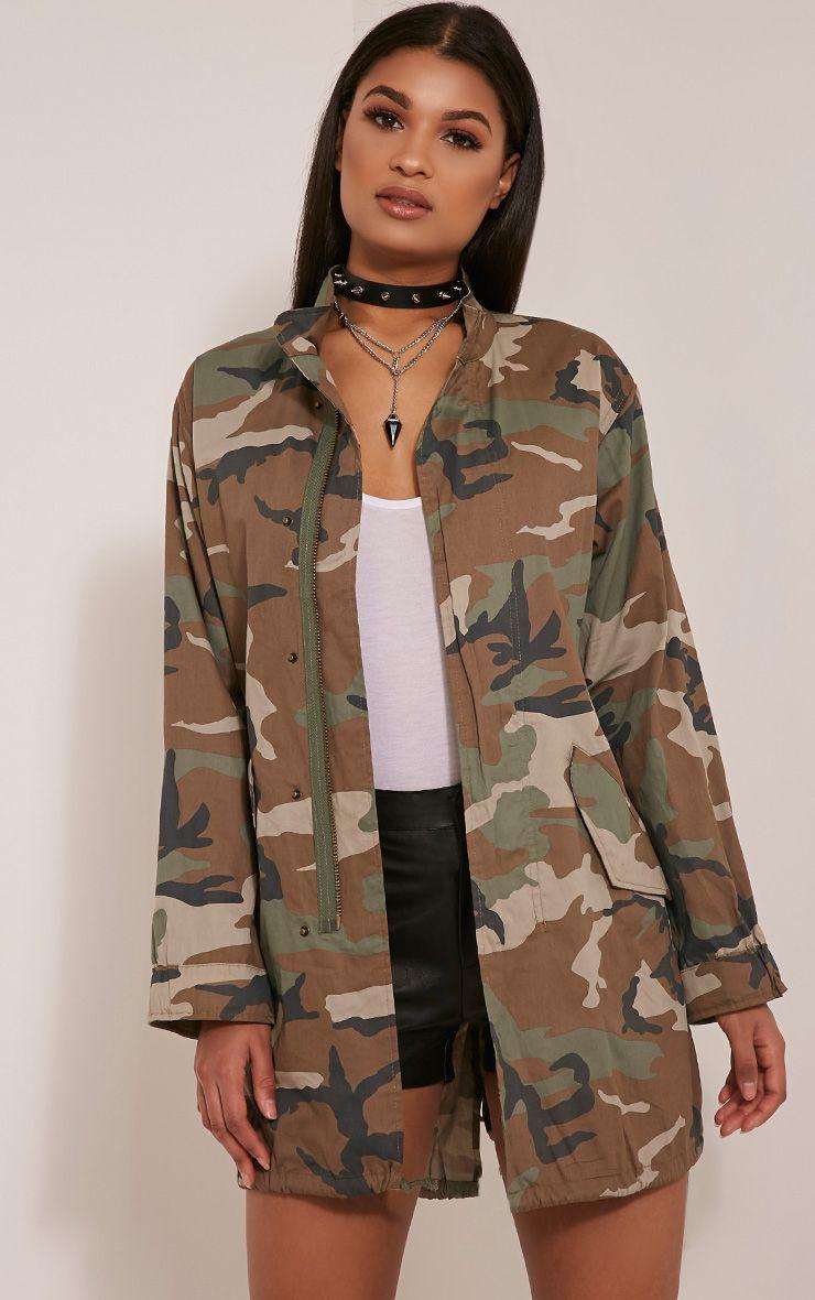 Edita Khaki Camouflage Shacket 1